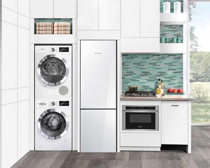 White Kitchen Appliance for Small Kitchen