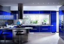 blue kithcen design idea