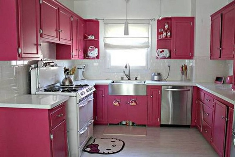 Beautiful Kitchen Interior Design With Beautiful White And