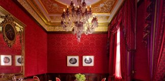Examples of red concept dining room designExamples of red concept dining room design