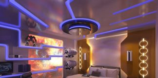 Futuristic design bedroom idea