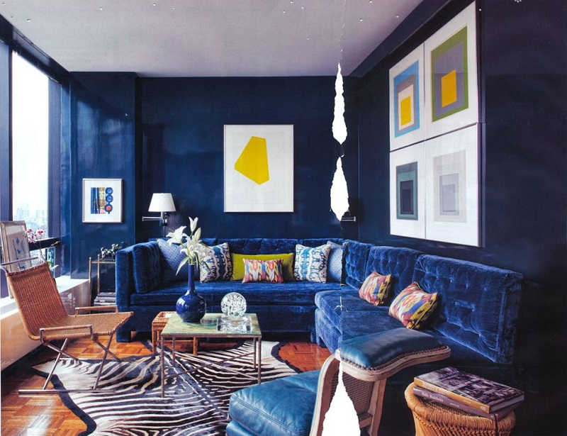 blue apartment design idea