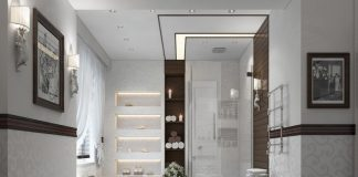 comfortable interior bathroom