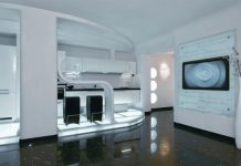 futuristic design small apartment
