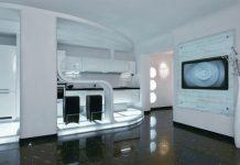 futuristic design small apartment