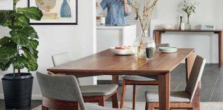 minimalist dining room wood furniture