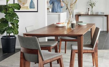 minimalist dining room wood furniture