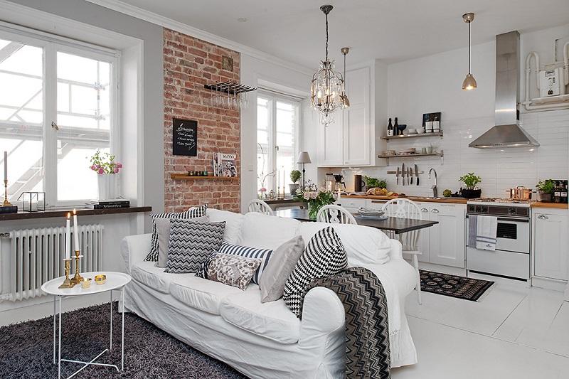 small apartment white concept