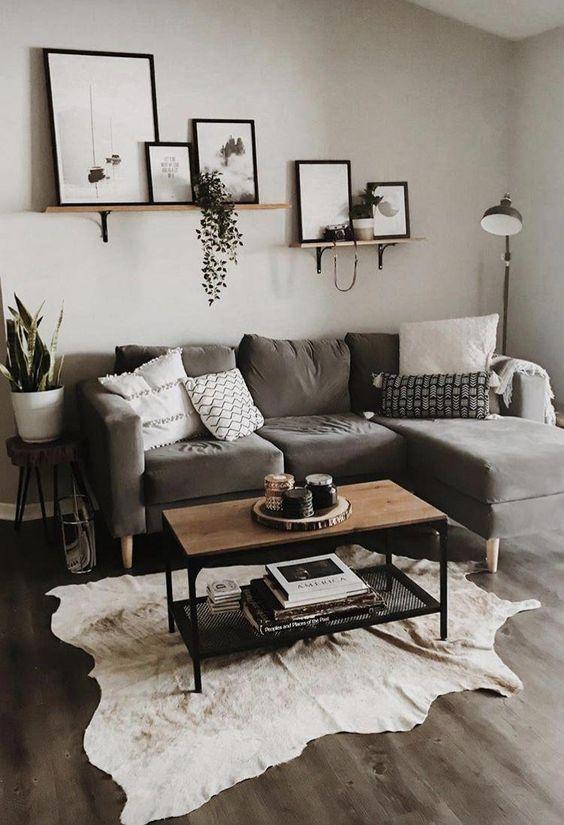 Small apartment decorations in dark color