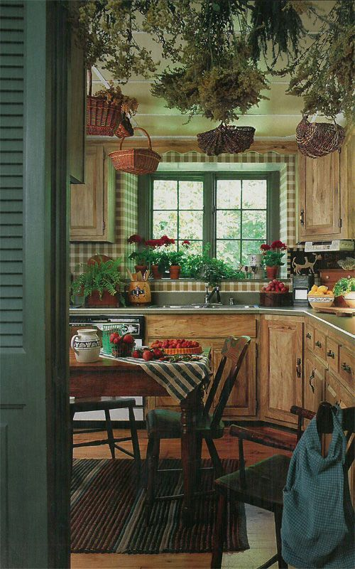 Traditional Japanese kitchen in green color