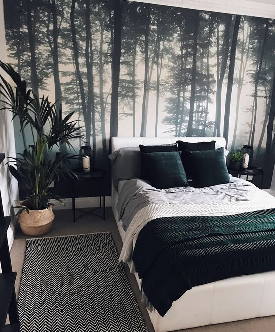 Forest bedroom inspired
