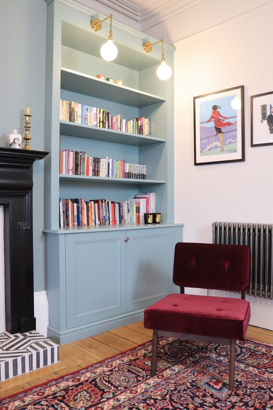 Modern Victorian study room design