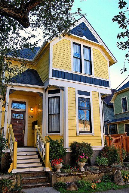 Modern Victorian home exterior