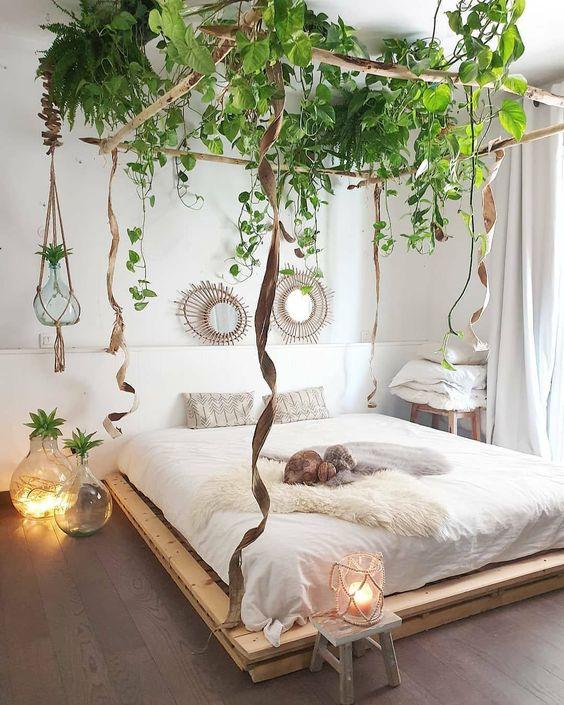 Canopy bed for Zen bedroom