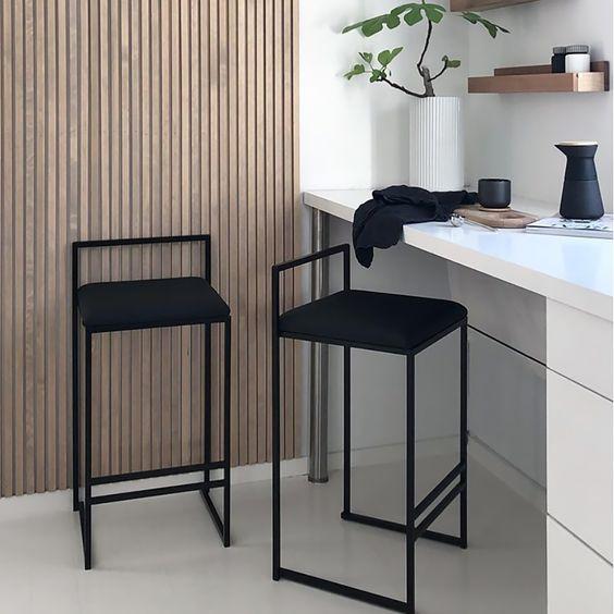 Bar stool in dining room