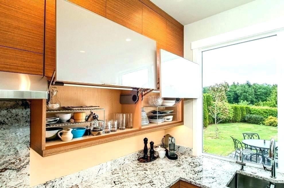 Types of kitchen cabinet design - lift up type