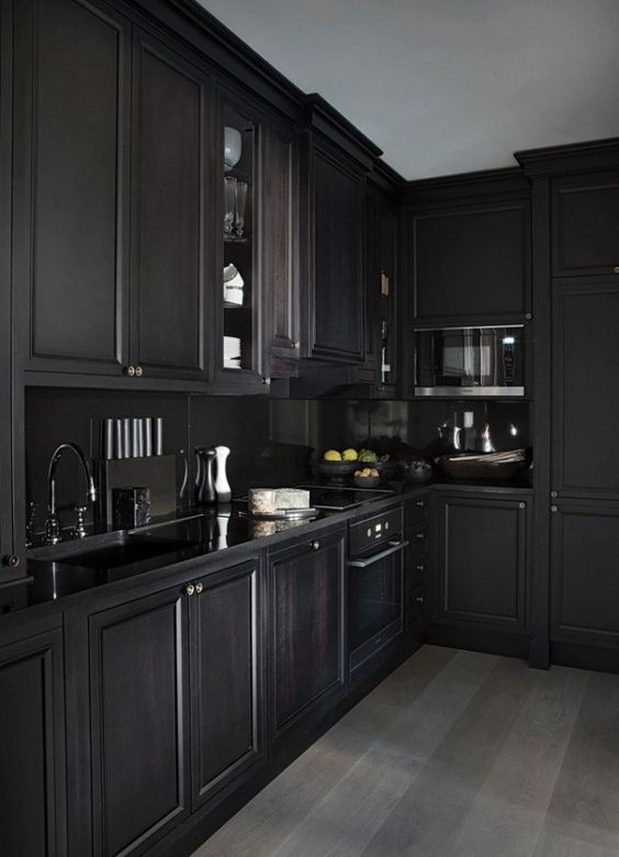 Modern gothic design kitchen