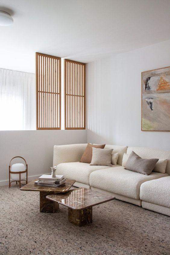 Zen living room design