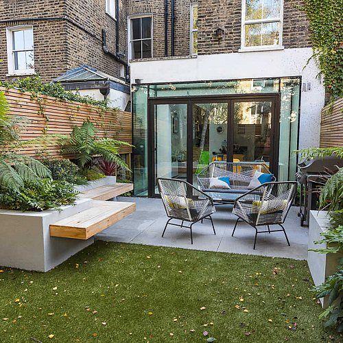 Modern Victorian terrace backyard