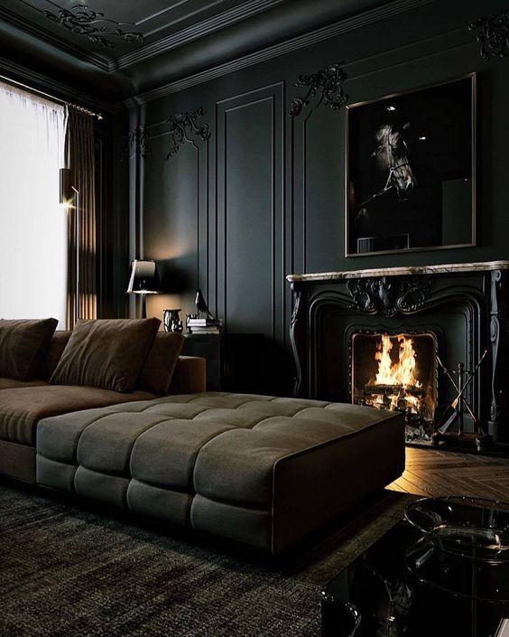 Modern gothic design interior