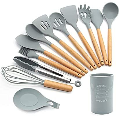 Wood and plastic materials for kitchen utensils