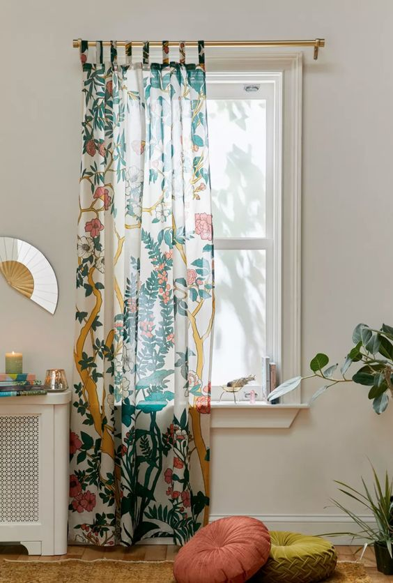 Cozy curtain for cozy living room