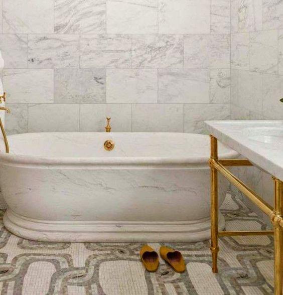 Modern Victorian bathroom with bathroom tiles ideas