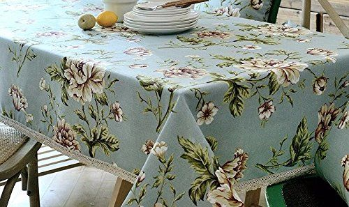 Floral pattern table cloth