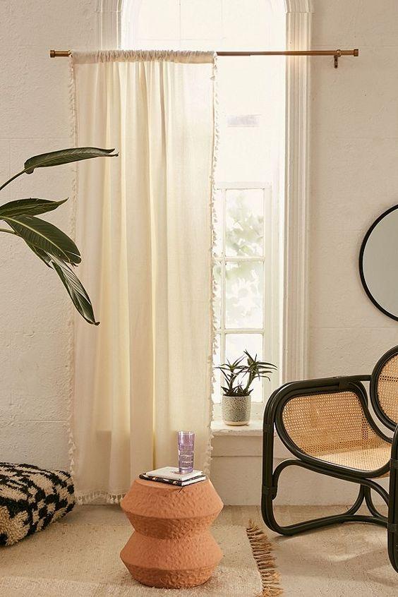 Zen curtain for living room