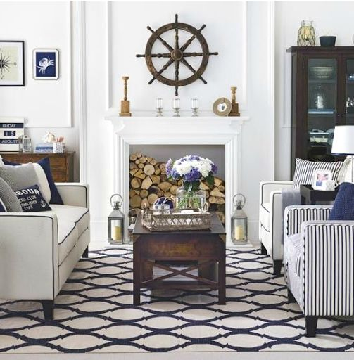 Modern nautical living room decorati