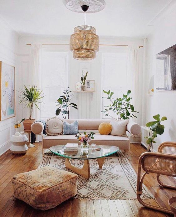 Cozy eclectic design with warm atmosphere