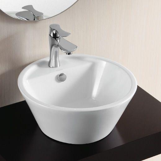 Ceramics sink in the modern Victorian bathroom