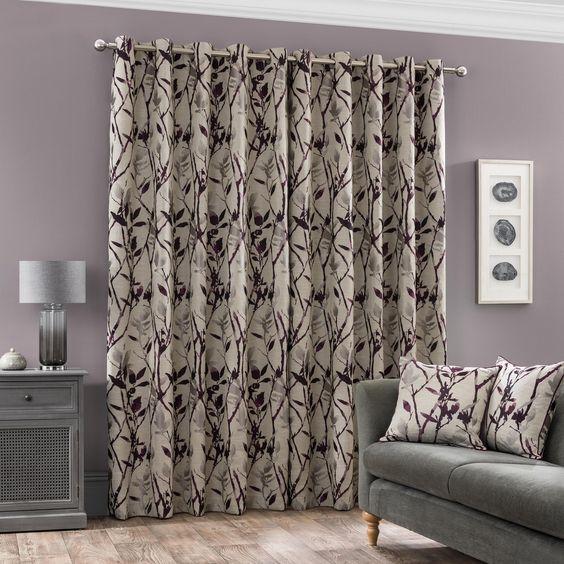 Zen floral curtain