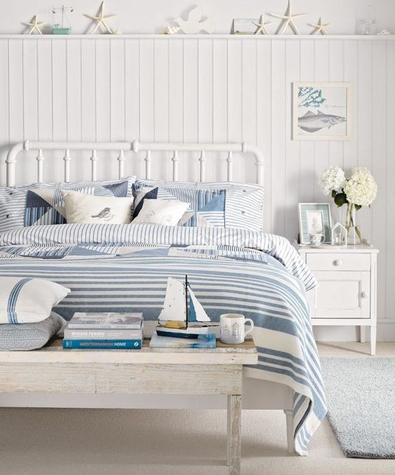 Nautical bedroom design decorating ideas in wider place