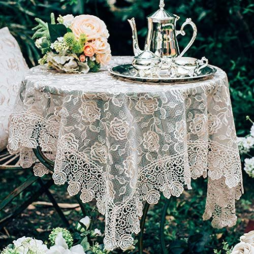 Floral lace tablecloth