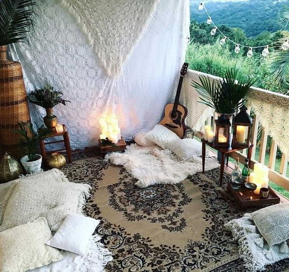 Meditation space in the balcony