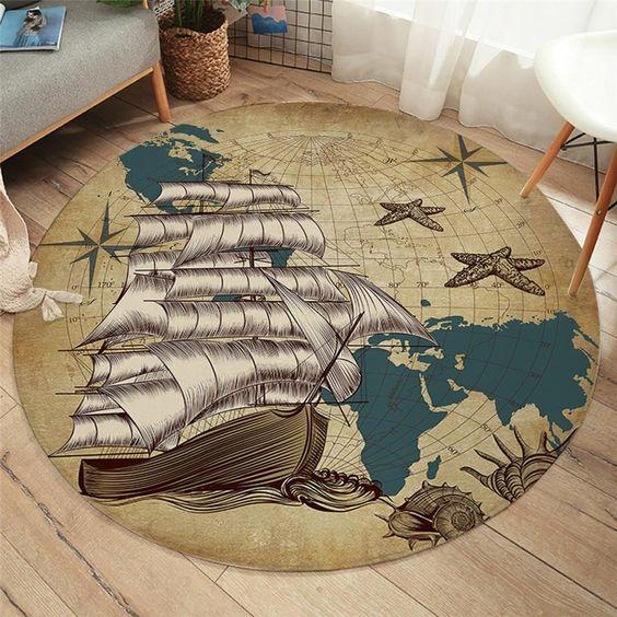 Nautical design rug