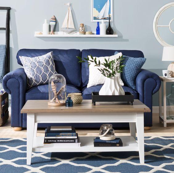 Nautical living room decorating ideas in simple concept