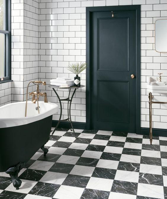 Ruzzini tiles combine with metro white tiles