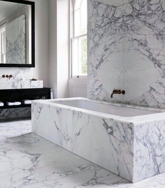Alcove bathtub for making modern Victorian bathroom