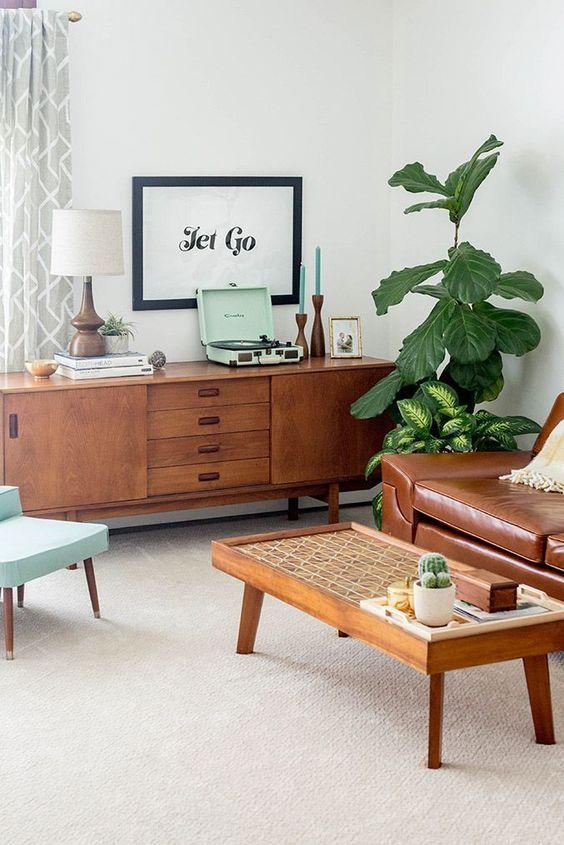 Tatami table in Zen living room design