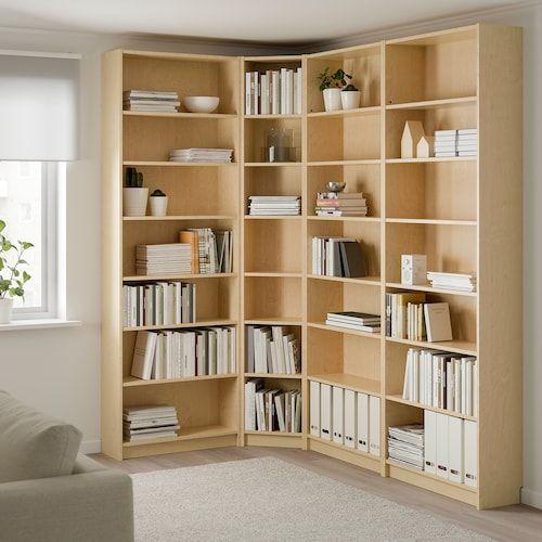Corner space bookshelf