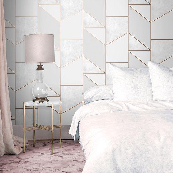 Block geo for eclectic bedroom design decorating ideas