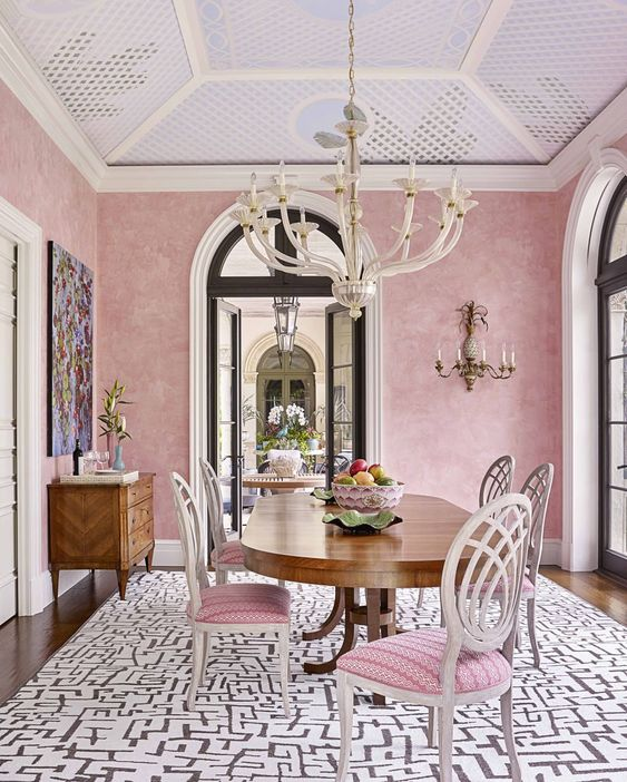 Small modern Victorian in pink color