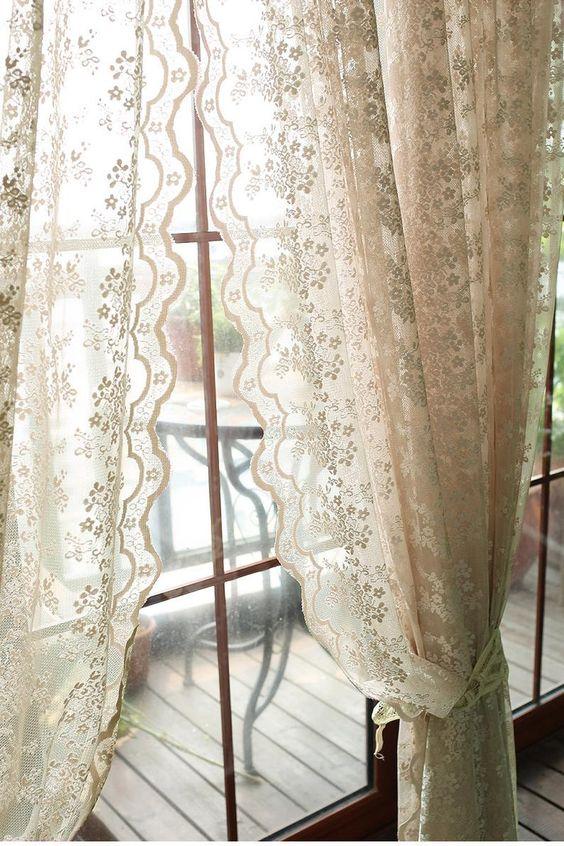 Vintage curtain for Mediterranean home