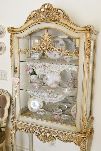 Modern Victorian vintage cabinet