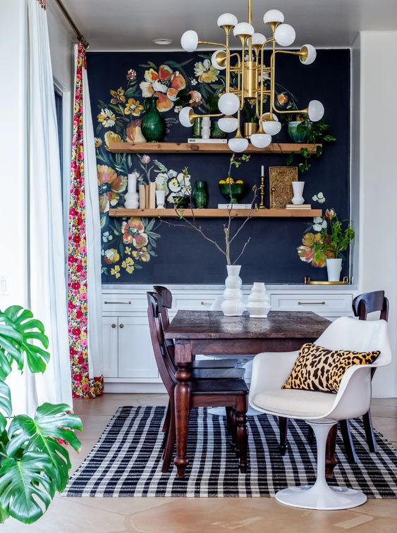 Modern eclectic dining room decorating ideas