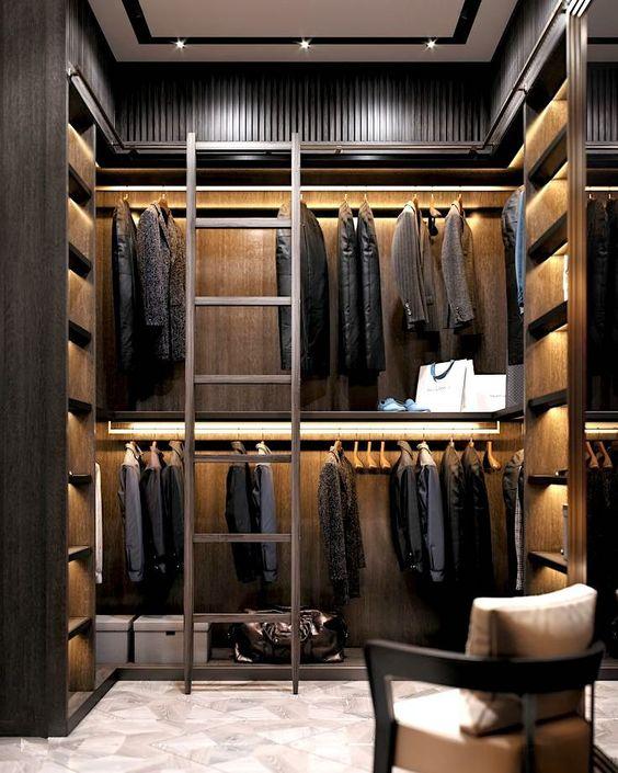 Man dressing room