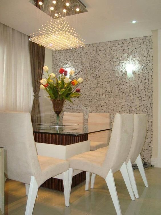 Crystal chandelier in white concept