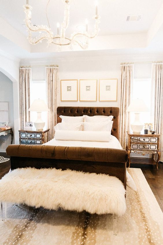 Bright color modern Victorian bedroom style